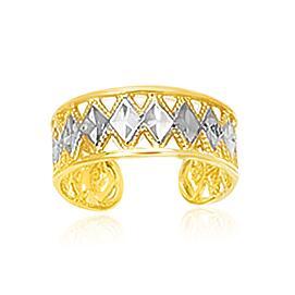 Toe Ring with Diamond Design