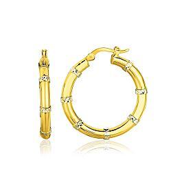 Alternate Textured Hoop Earrings