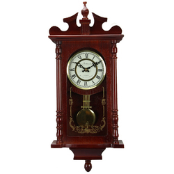 25 Inch Wall Clock With Pendulum And Chime