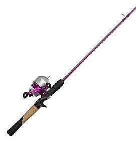 lady fishing rod
