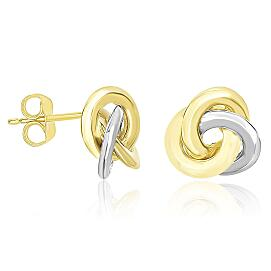 Intertwined Open Circle Earrings