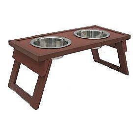Dog Bowl Double Raised