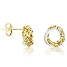 Open Circle Style Entwined Earrings