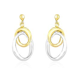 Earrings with Interlaced Oval Sections