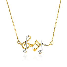 Gold Musical Notes Necklace