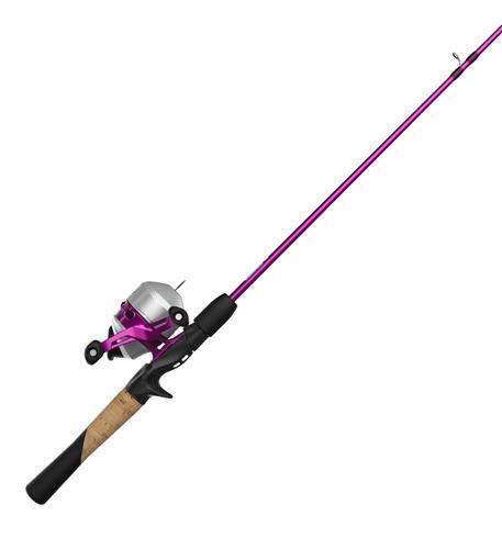 lady fishing rod